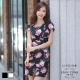 LIYO理優韓系洋裝玫瑰印花洋裝(杏,黑)