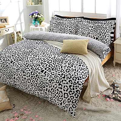 Goelia 私人香氛 雙人活性印染精梳純棉兩用被套床包四件組