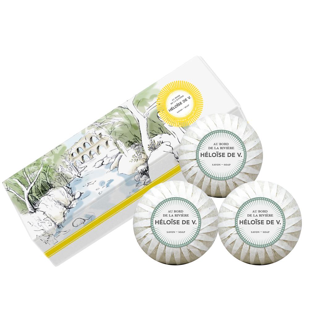 Héloise de V. 河畔漫游 奢寵香水皂 禮盒組100G*3