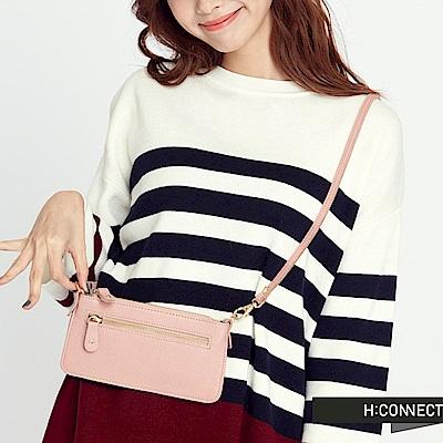 H:CONNECT 韓國品牌 質感皮革收納包-粉