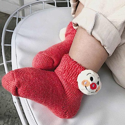 Baby unicorn 加厚款西瓜紅麵包超人羊毛短襪童襪