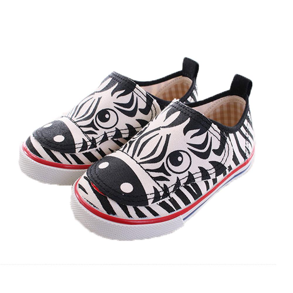 斑馬彩紋帆布鞋 sh9735