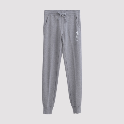 Hang-Ten-女裝-運動潮流素面束口棉褲-灰