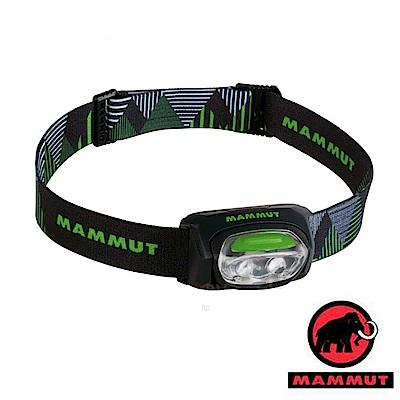 【瑞士 MAMMUT 長毛象】T-Base Headlamp 30流明 輕量化頭燈_黑綠