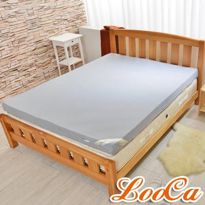 LooCa綠能護背8cm減壓床墊-加大-搭黑絲絨竹
