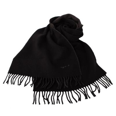 agnes b. 小b.系列流蘇圍巾披肩-咖/灰