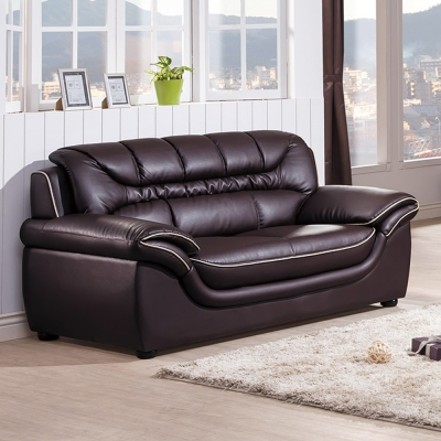 AS -愛薇拉咖啡色兩人座皮沙發