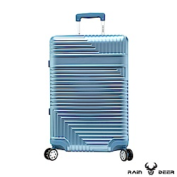 RAIN DEER 玩美幾何25吋PC+ABS鋁框行李箱-冰心綠