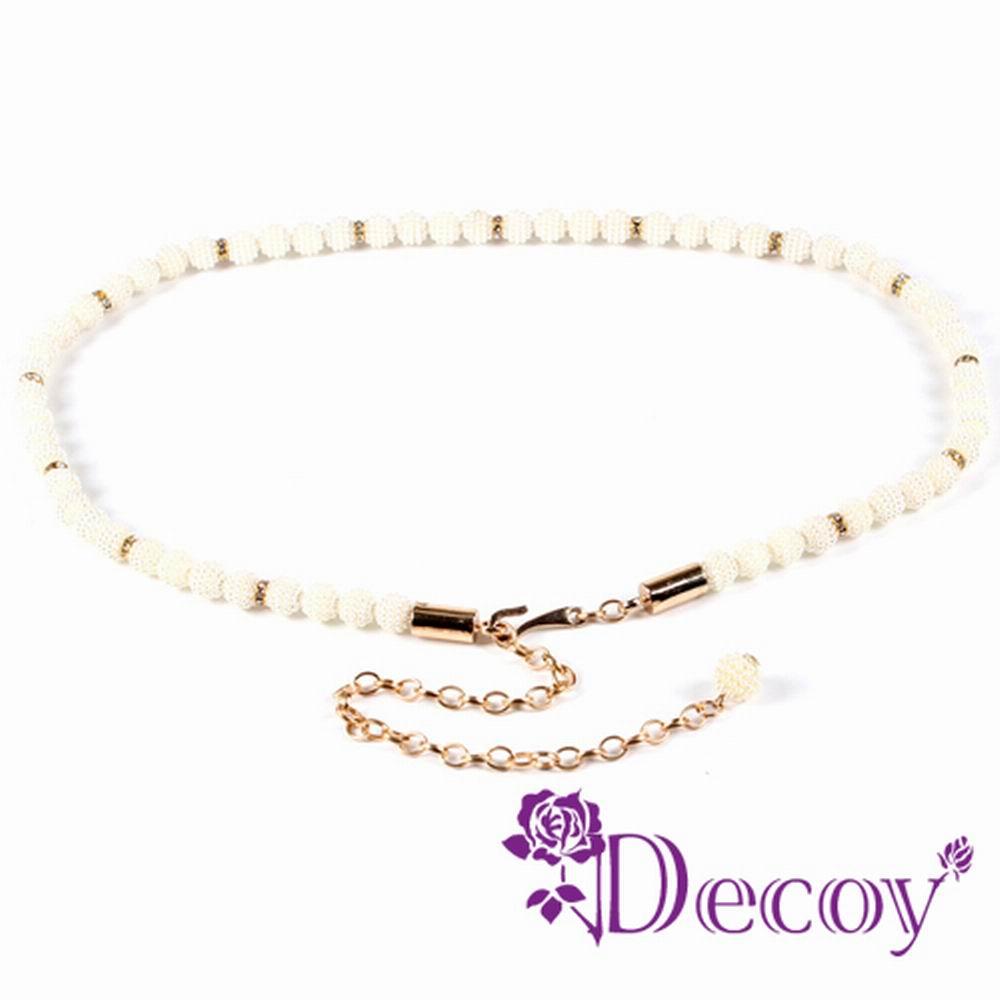 Decoy 珍珠串鍊 垂墜編織珍珠腰封