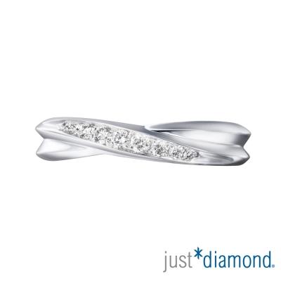 Just Diamond 無盡的愛系列18K金對戒-情有獨鍾 (女戒)