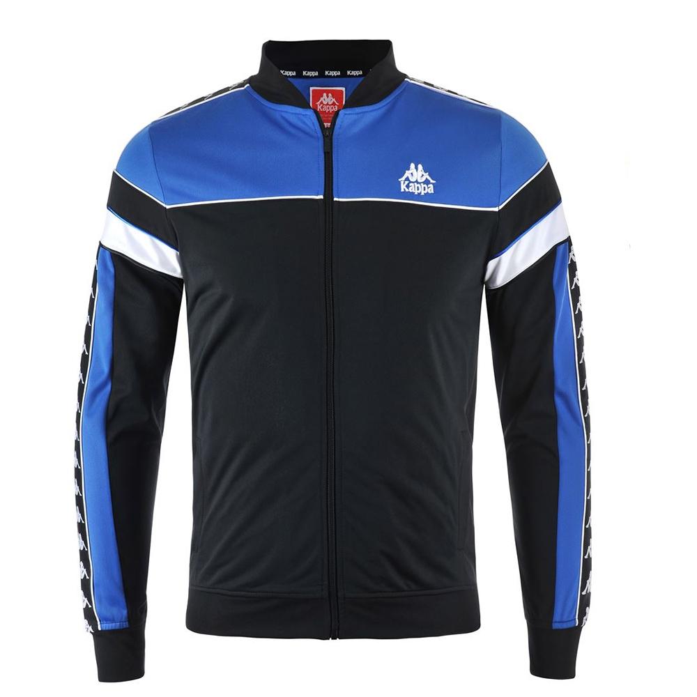KAPPA義大利時尚型男慢跑SLIM FIT運動外套合身版-黑寶藍