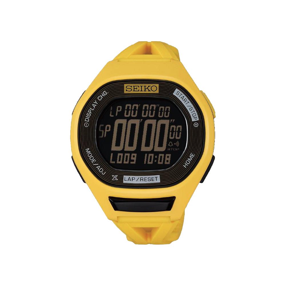 SEIKO Super Runners 20周年專業路跑紀念錶(SBEG015J)-黃