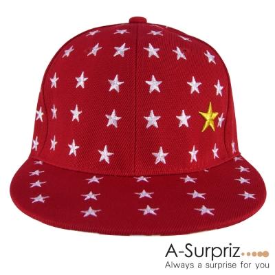 A-Surpriz 閃亮繁星美式棒球帽(紅)