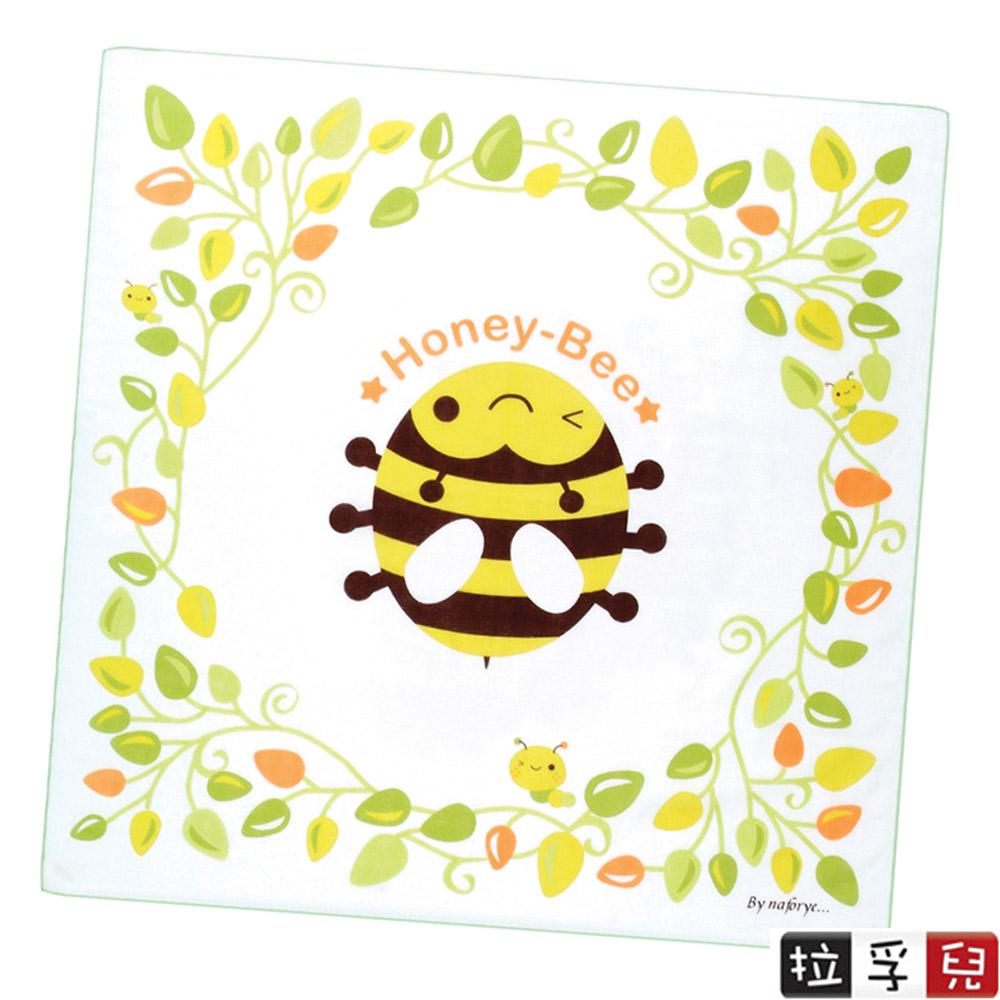 【拉孚兒 Naforye】純綿四層紗布方型大澡巾/浴巾-蜜蜂