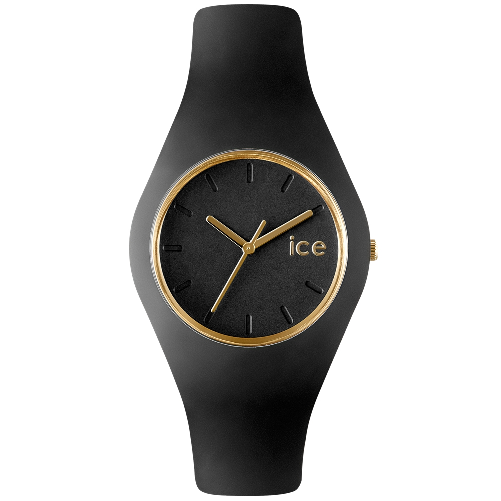 Ice-Watch 亮采系列 優雅名媛手錶-黑x金/43mm
