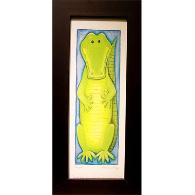 開運陶源可愛動物系列之鱷魚小幅
