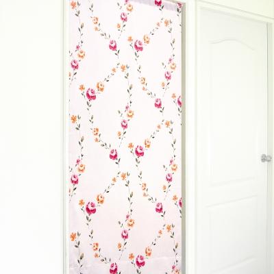 布安於室-花桂冠遮光長門簾-淺粉色底