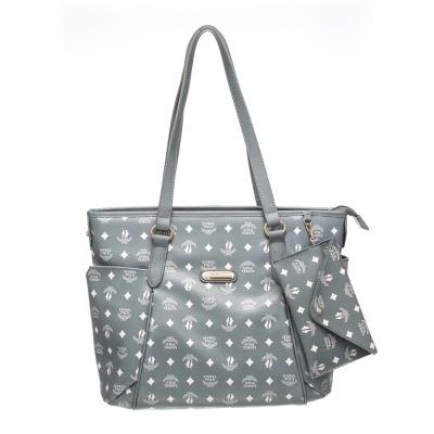 【XINWEI POLO】奢華LOGO風雙側口袋包款附零錢包(6318)-灰綠色
