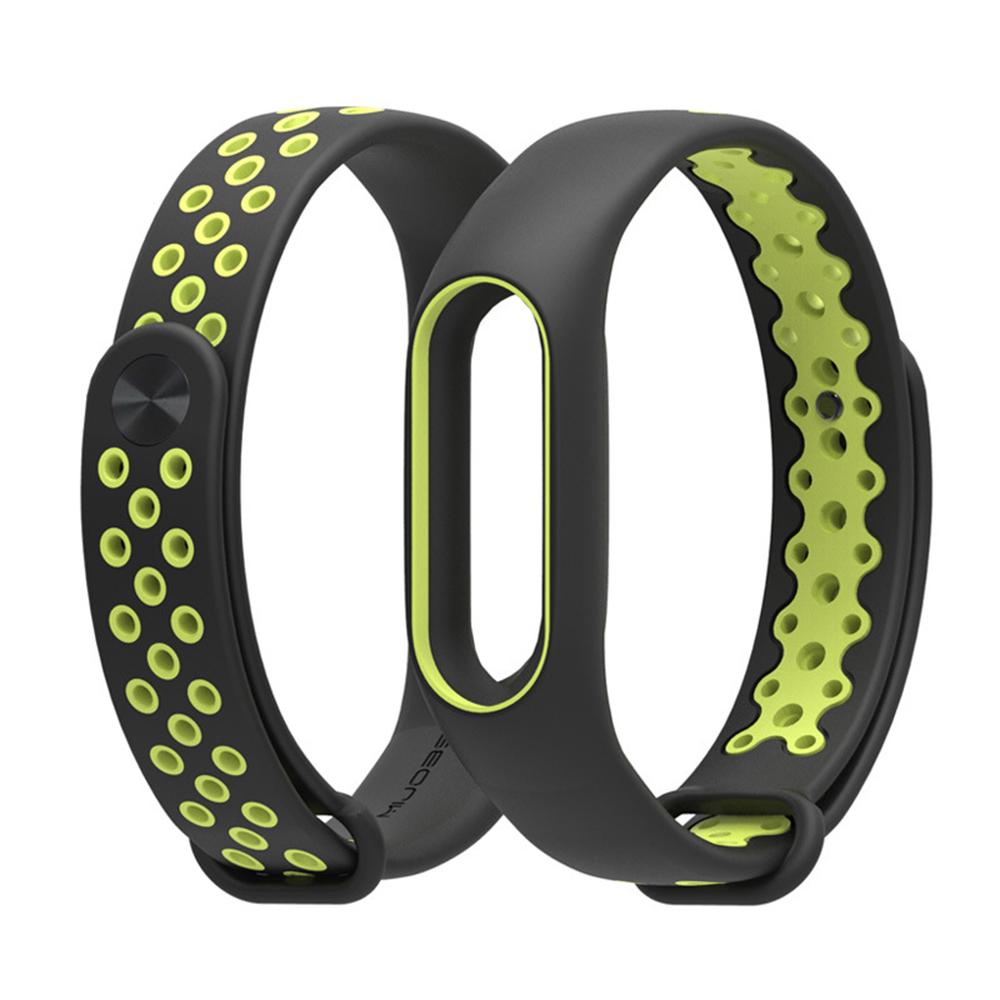 小米手環2代 雙色透氣洞腕帶 替換帶(副廠) 加贈保護貼乙入