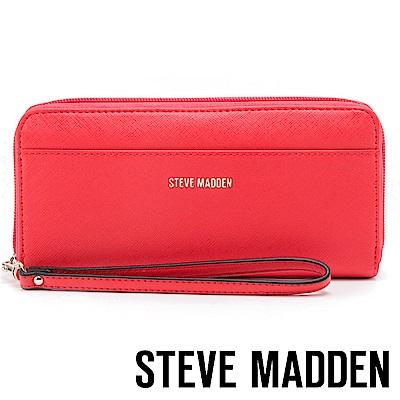 STEVE MADDEN-BSHAELA-素面LOGO百搭長夾-紅色