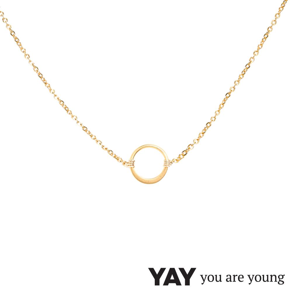 YAY You Are Young 法國品牌 Sultane 圓滿圈圈項鍊 金色