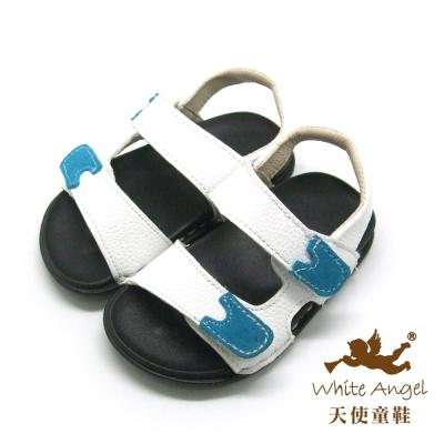 F521 簡約休閒中性涼鞋(小童)-白
