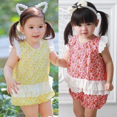 baby童衣 花朵蕾絲小飛袖連身衣 60252