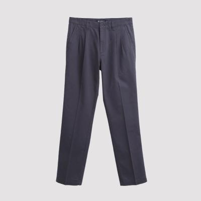 Hang Ten - 男裝 - 基本純色打摺休閒褲 - 灰