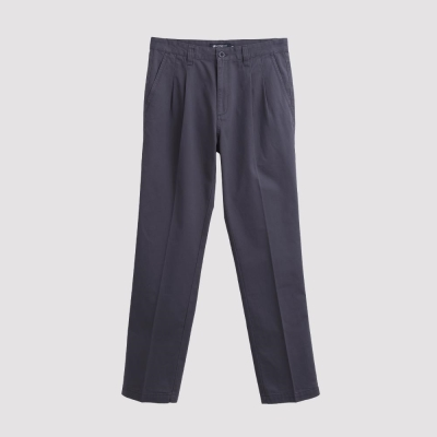 Hang Ten - 男裝 - 基本純色打摺休閒褲 - 灰褐