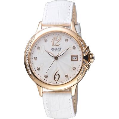 ORIENT 東方錶 ELEGANT系列 璀璨之星機械腕錶-白色/38mm