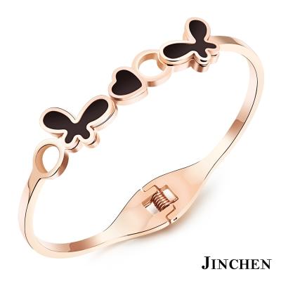 JINCHEN 白鋼花蝴蝶手環