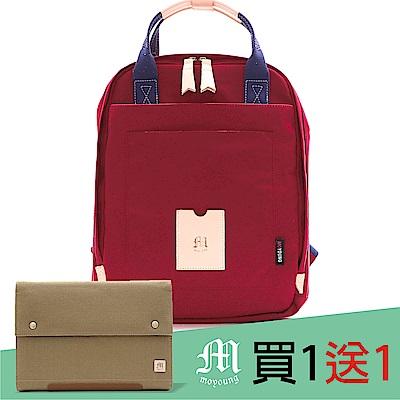 Moyoung 買1送1步漫步城市輕量尼龍機能包 玫瑰紅