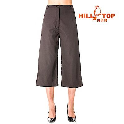 【hilltop山頂鳥】女款吸濕排汗抗UV彈性寬褲S07FG0-灰