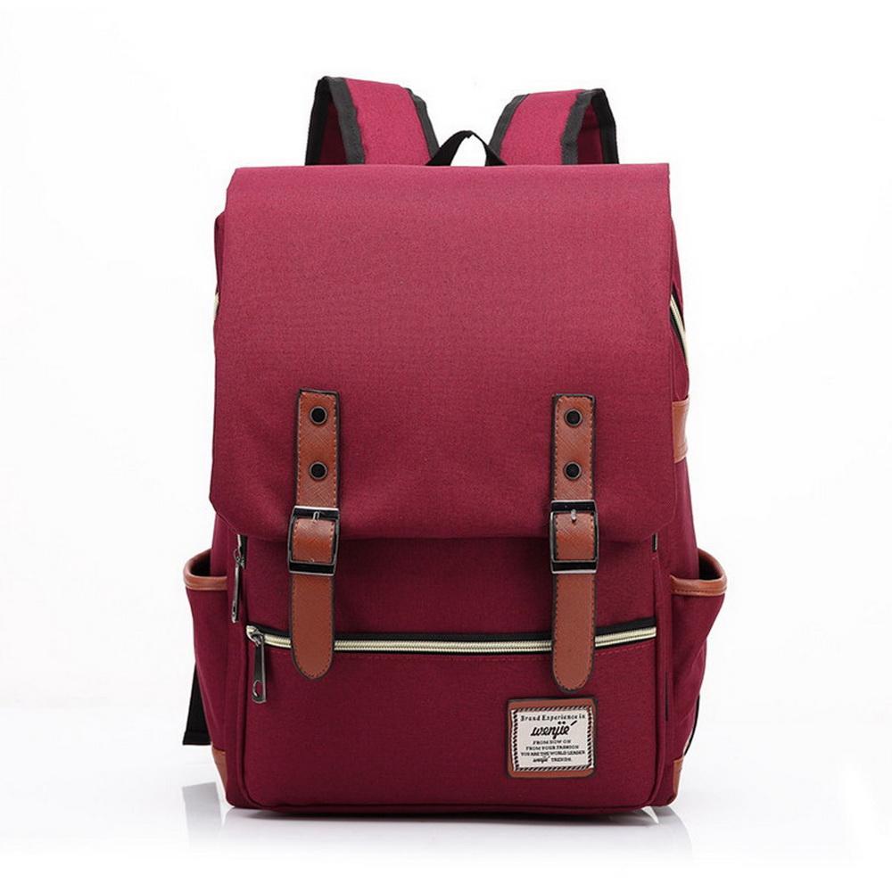 Wenjie英倫學院風雙肩後背包 共5色 product image 1