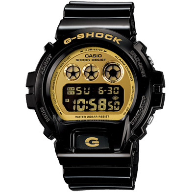G-SHOCK 搖滾前衛風格數位運動錶(DW-6900CB-1)-黑