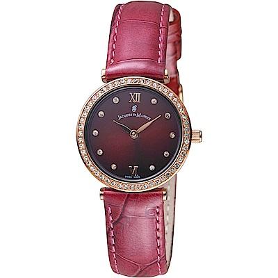 Jacques du manoir雞尾酒系列時尚華麗腕錶(C-RDL 紅)