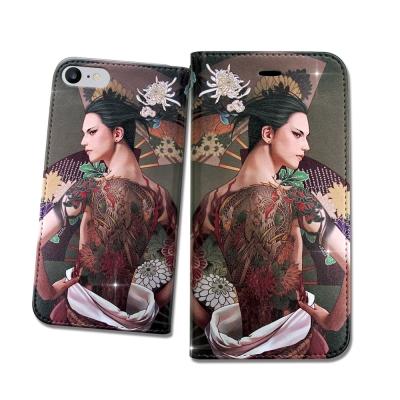 張小白授權 iPhone 8/iPhone 7 古典奇幻 插畫磁扣皮套(菊)