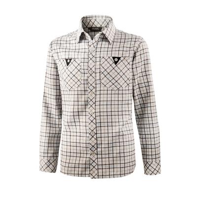【ATUNAS 歐都納】男款保暖彈性長袖襯衫 A-S1217M 灰格