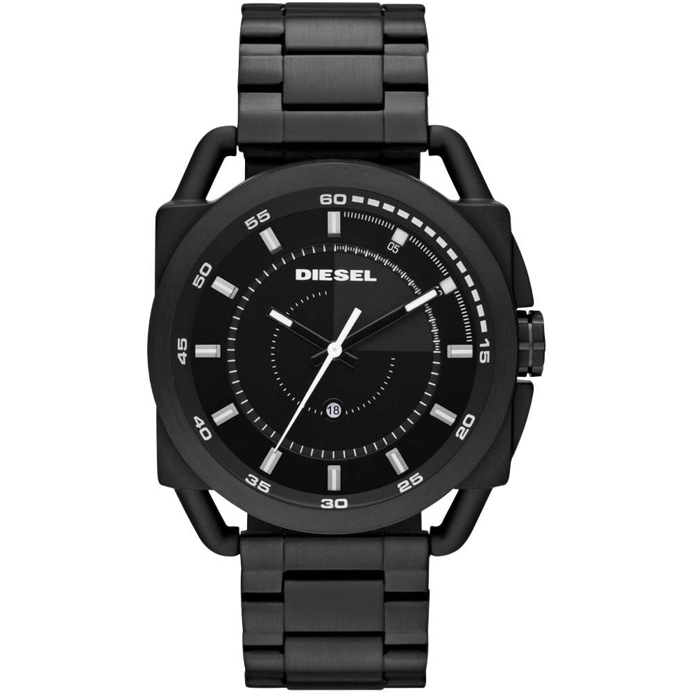 DIESEL 魅力概念都會時尚腕錶(鋼帶-全黑) /46mm