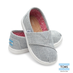 TOMS 經典亞麻布懶人鞋-幼童款