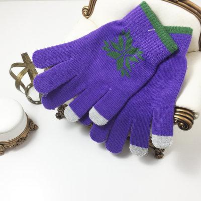 ACUBY 二指觸控冰雪手套/紫