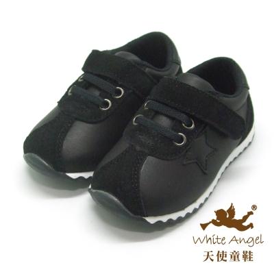 天使童鞋 L751 新Star 輕量型運動休閒鞋-酷帥黑