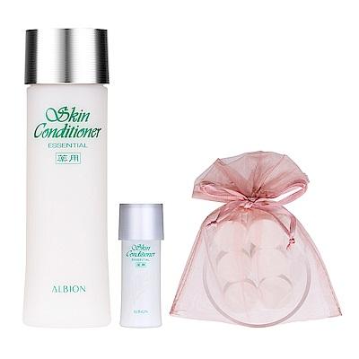 ALBION艾倫比亞 健康化妝水N(330ml)+(27ml)+濕布面膜組6入