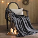 MONTAGUT-針織毛線毯(鐵灰色)