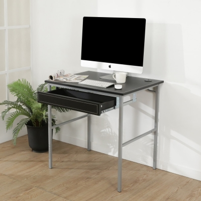 BuyJM低甲醛粗管仿黑馬鞍皮抽屜工作桌/寬80cm-DIY
