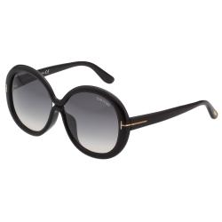 TOM FORD 經典八字 圓面 太陽眼鏡-黑色-TOM388F