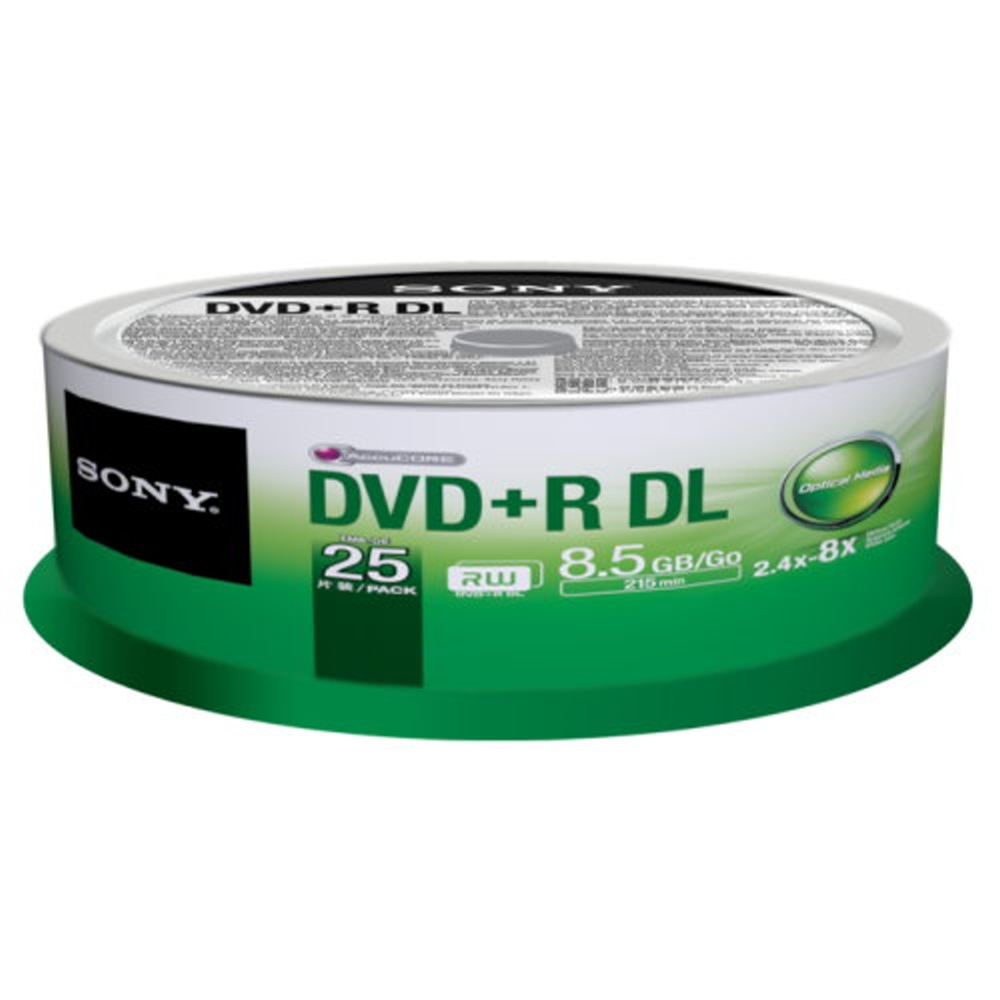 SONY 8X DVD+R DL 8.5GB  燒錄片 (25片)