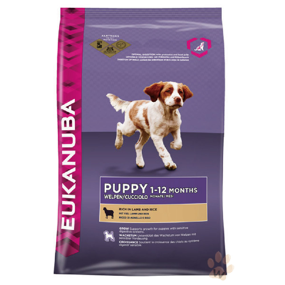優卡Eukanuba 幼犬羊肉加米 活力健康犬糧12kg 1入