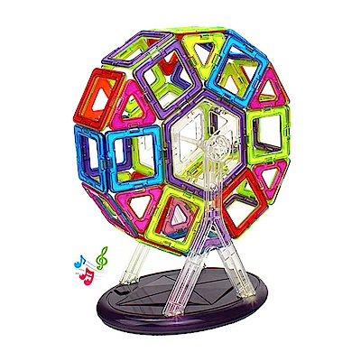 Amuzinc酷比樂 兒童益智玩具 神奇磁力片 52片組 703