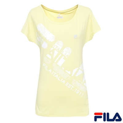 FILA女抗UV吸排T恤-淺綠5TER-1314-LM